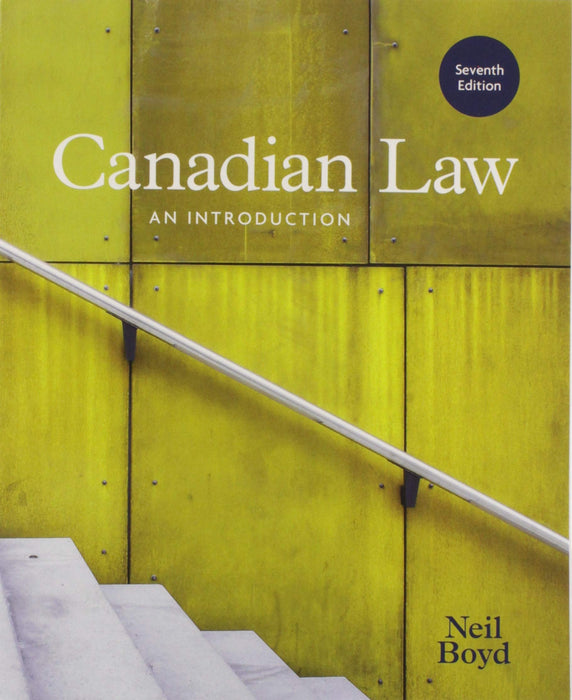 Canadian Law: An Introduction, 7th Edition