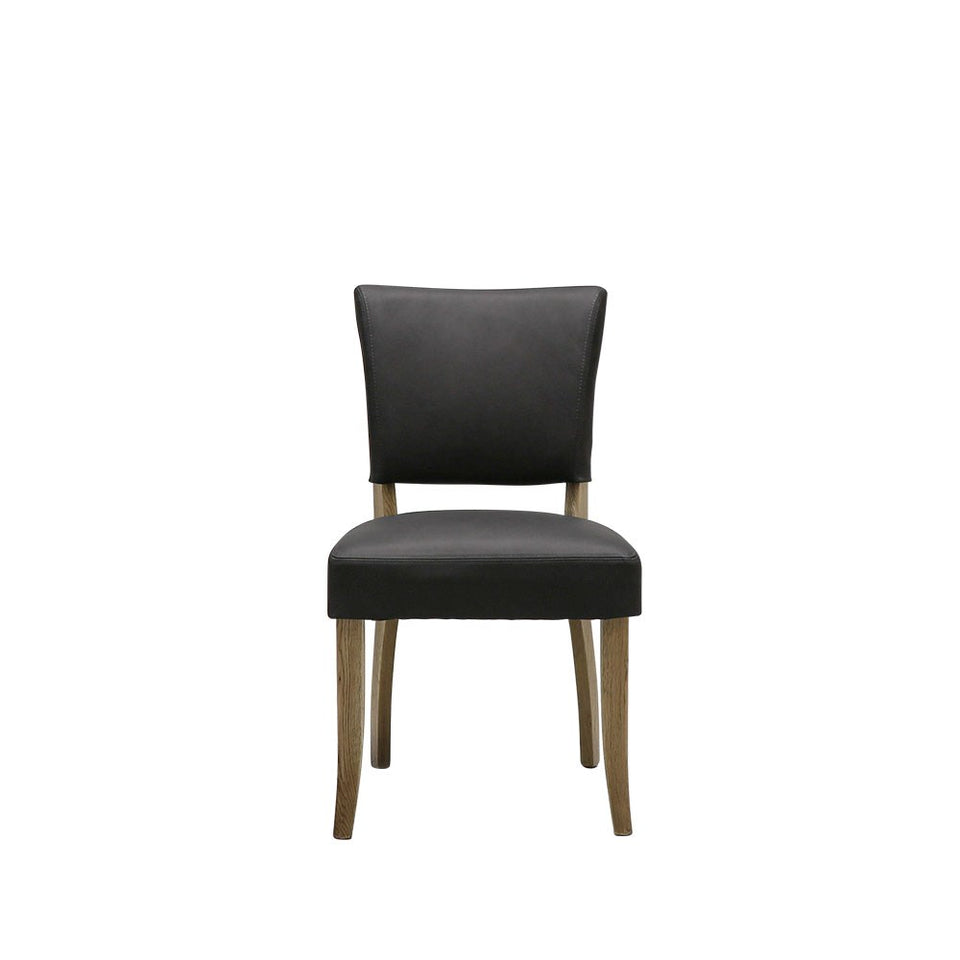 Crane Dining Chair Leather - Black