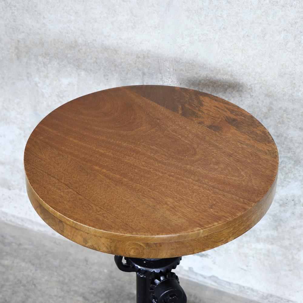 Bank Side Table Wood Top