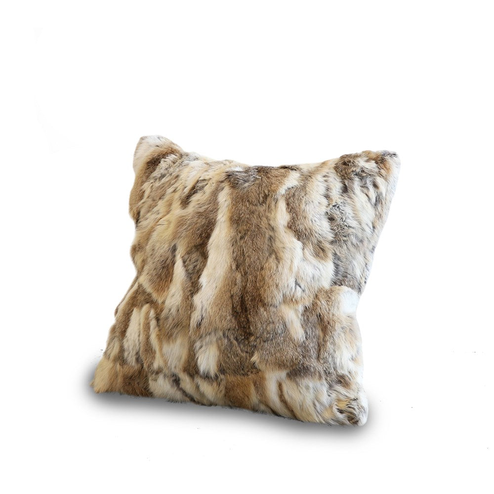 Arctic Rabbit Cushion Patched Natural