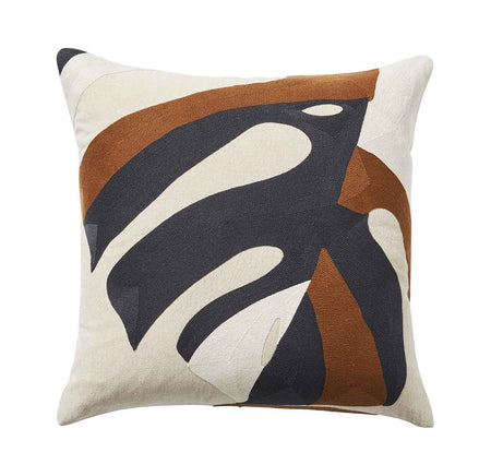 Monstera Cushion - Spice