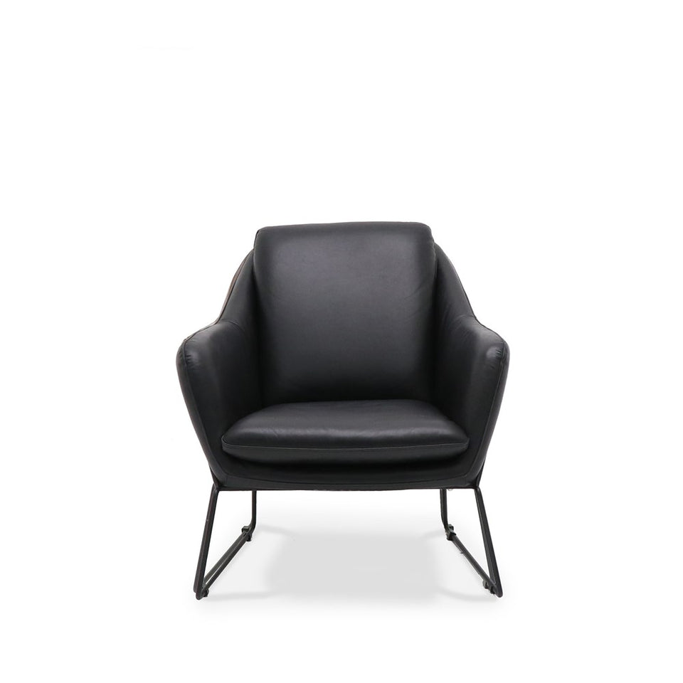 Workshop Armchair Aged Black