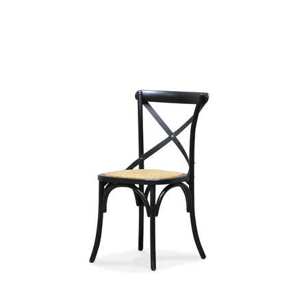 Bentwood Black Dining Chair Metal Cross