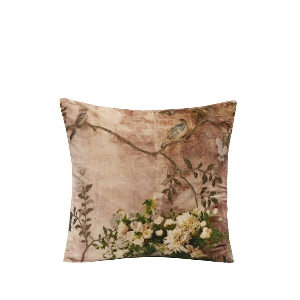 Sari Printed Cushion - Vintage Rose  Due September