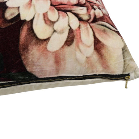 Sari Printed Cushion - Peony, Out of Stock