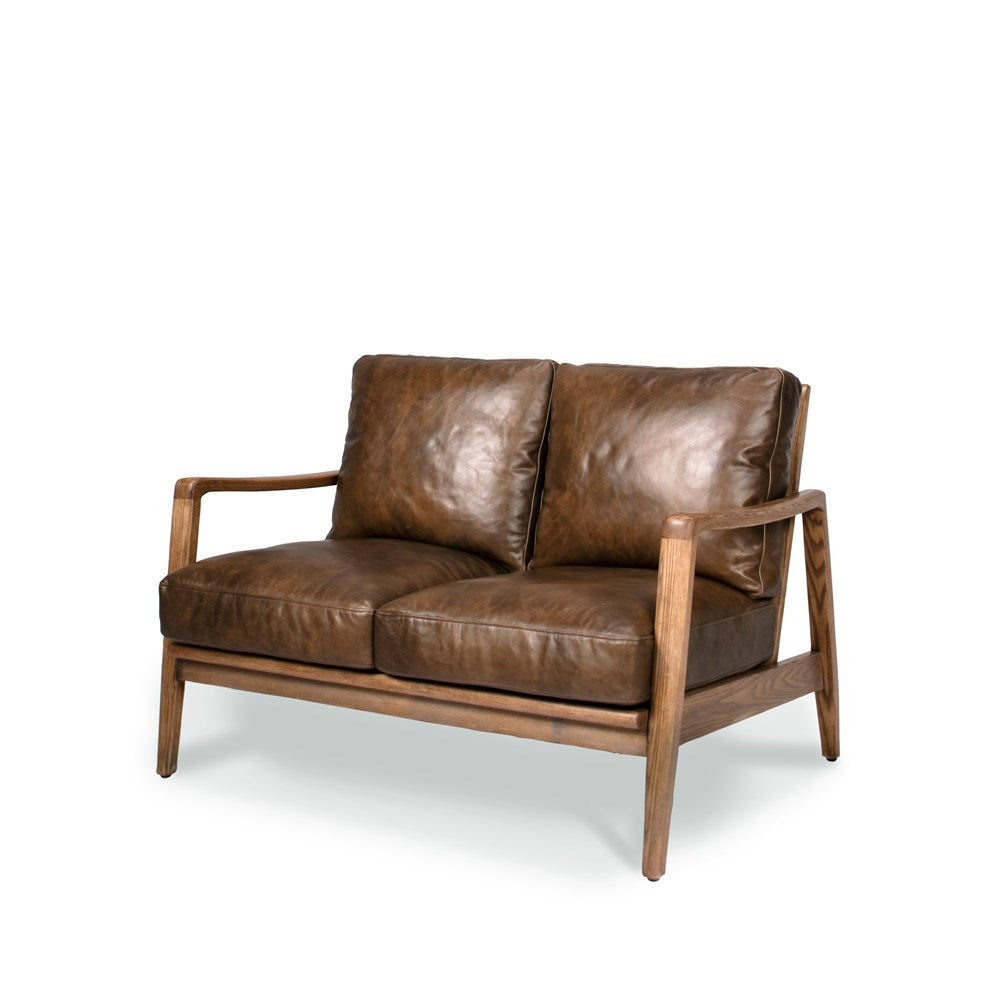 Reid 2 Seat Sofa - Brown Leather