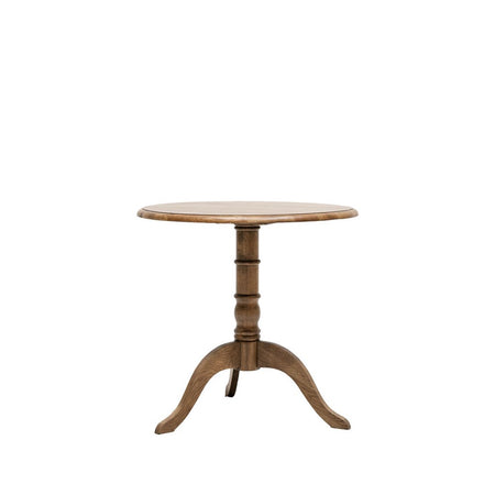 Pedestal Dining Table Oak 100cm