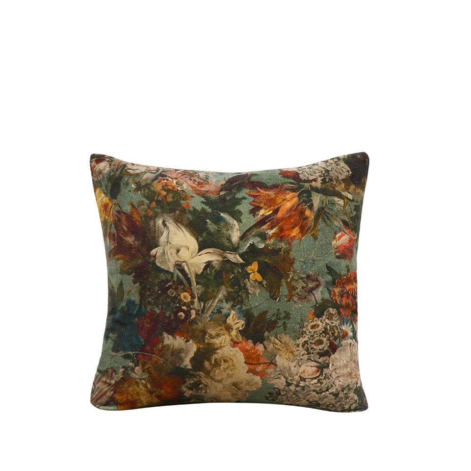 Sari Printed Cushion - Untamed Floral  Due September