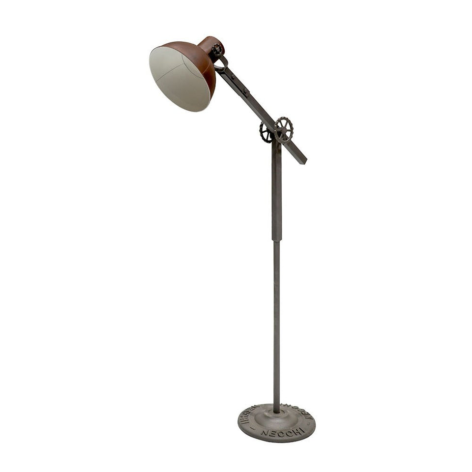 Bank Metal Floor Lamp - Rustic Brown