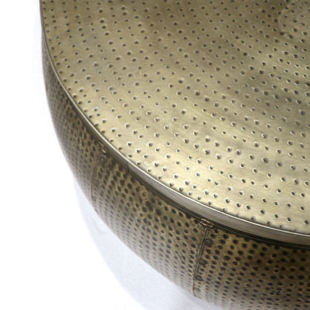 Chandri Hammered Brass Coffee Table