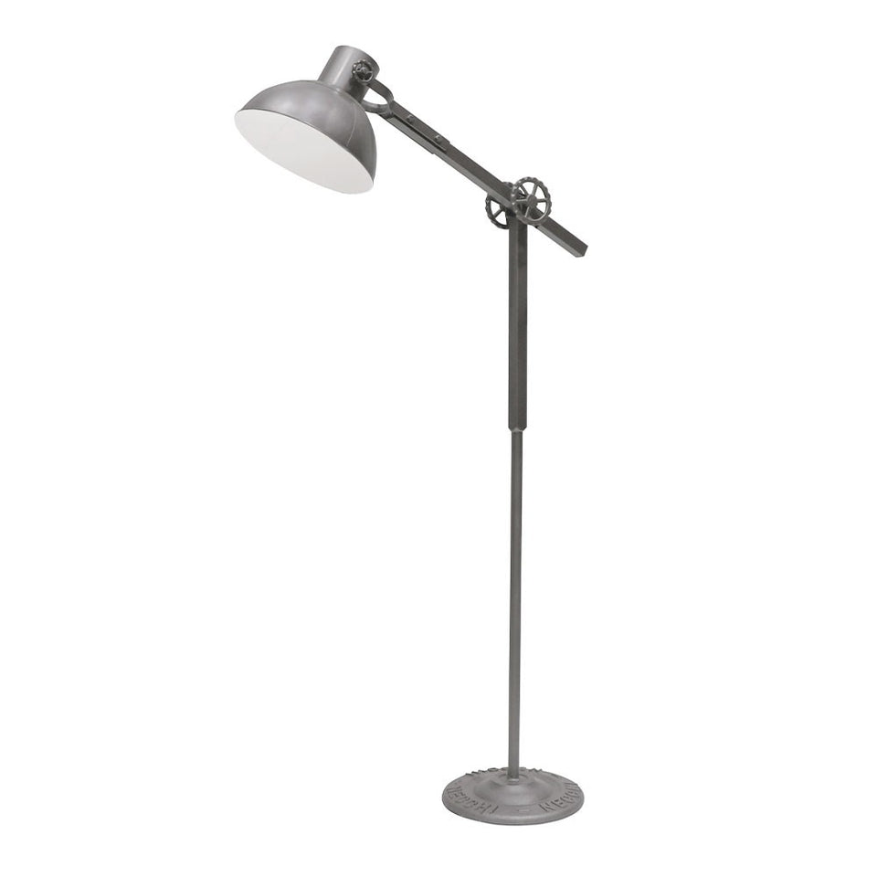 Bank Metal Floor Lamp - Grey