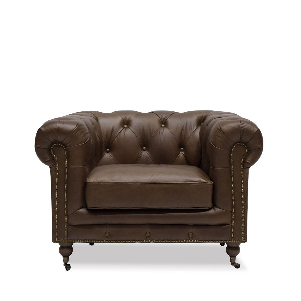 Stanhope Chesterfield Armchair Nutmeg