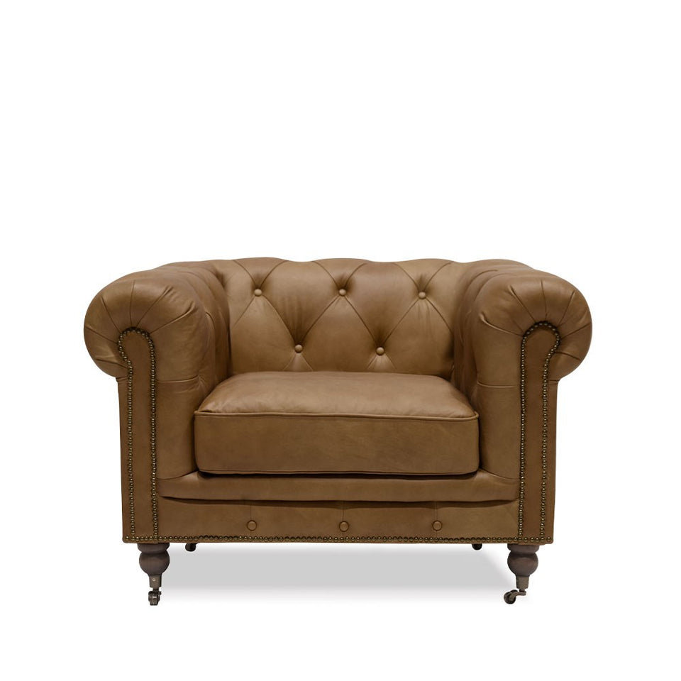 Stanhope Chesterfield Armchair Chestnut