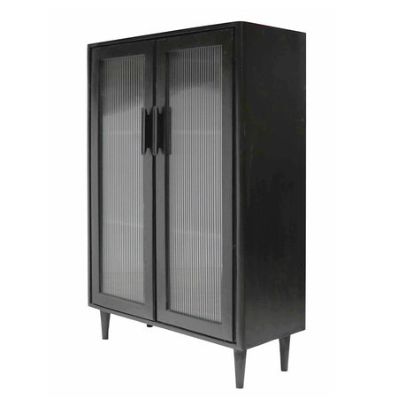 Tate Glass Display Cabinet - Short Black