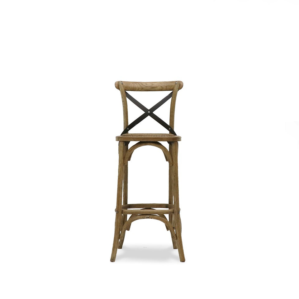 Bentwood Barstool Metal Cross