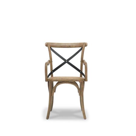Bentwood Carver Dining Chair Metal Cross