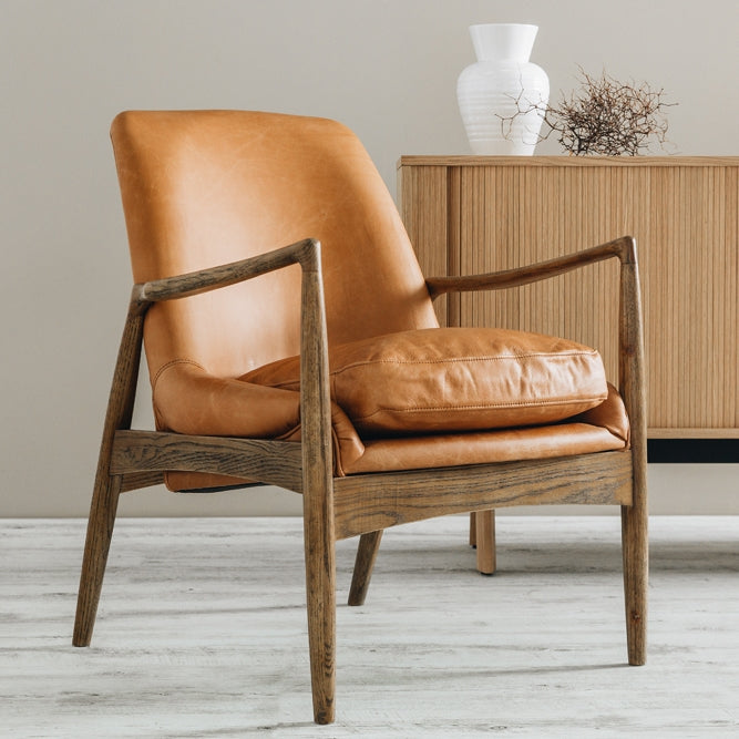 Steiner Armchair Cognac Wax Leather