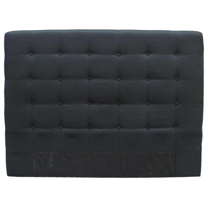 Charly Bedhead Black Linen Super King