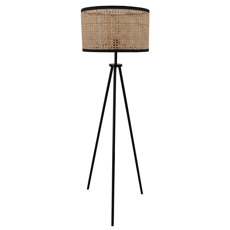 Hemp Tripod Floor Lamp