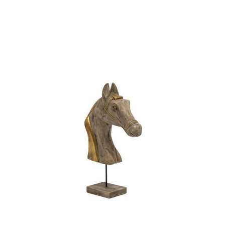 CHANDRI HORSE HEAD WITH BRASS - LGE
