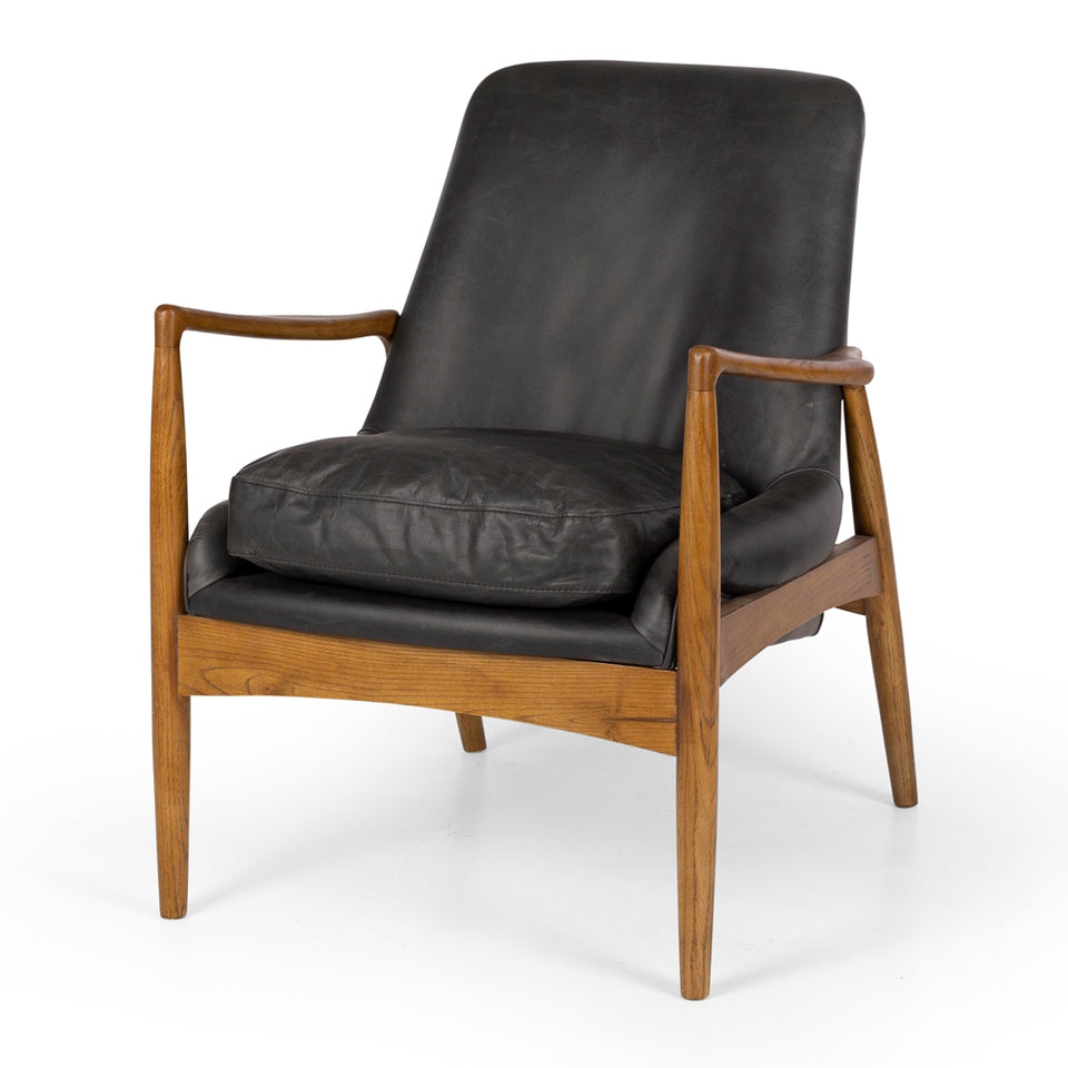 Steiner Armchair Black Wax Leather