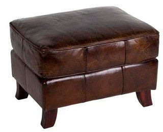 CURVED LEG OTTOMAN VINTAGE CIGAR, SOLD OUT