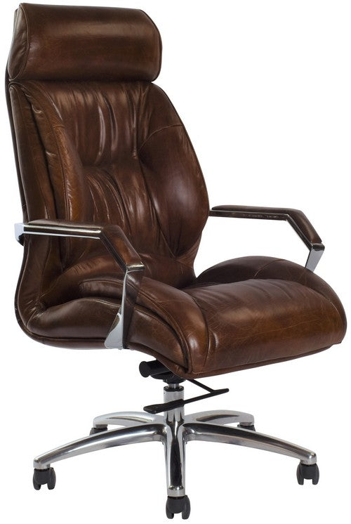 GM ADJUSTABLE DESK CHAIR - VINTAGE CIGAR BROWN, OUT OF STOCK