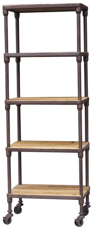 INDUSTRIAL 5 TIER SHELVING UNIT OLD PINE
