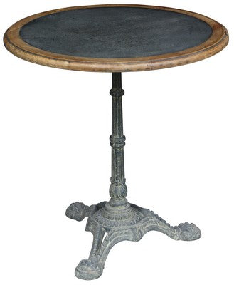 ROUND CAFE TABLE WITH ZINC TOP