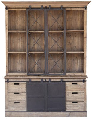 WALL UNIT WITH SLIDING BARN DOORS, SOLD OUT