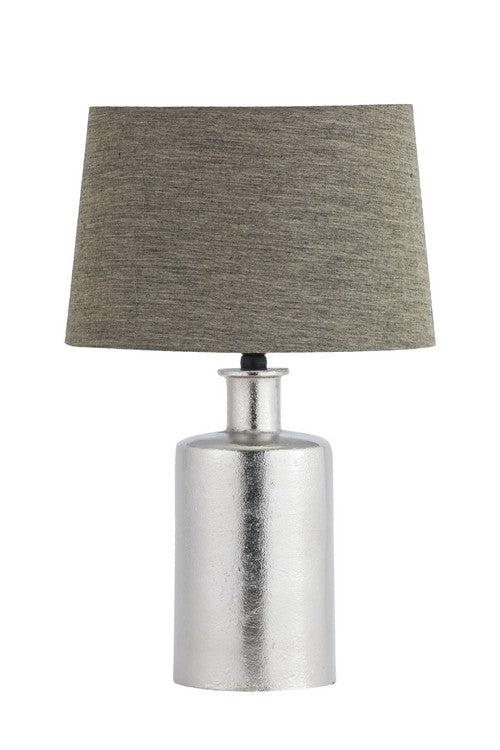 TABLE LAMP WITH SHADE (LAMP - NICKEL / SHADE - SOUTH LINEN)