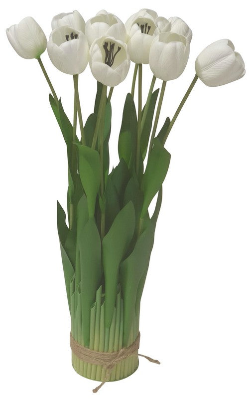 WHITE TULIP ARRANGEMENT - 12 HEAD