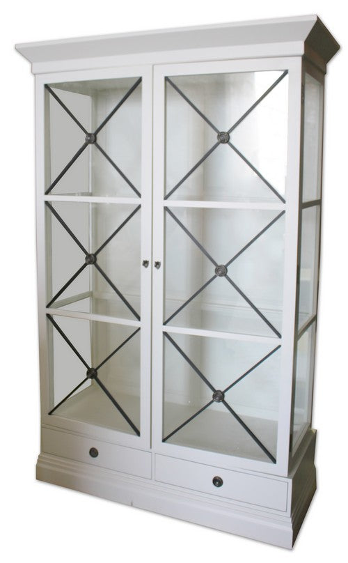 CHATEAU WALL UNIT - WHITE POPLAR / BLACK CROSS