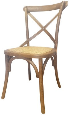 CROSS BACK CHAIR - ANTIQUE OAK