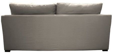 CHARLOTTE 100% FEATHER FILLED SLIP COVER SOFA 3 SEATER / PASTEL GREY