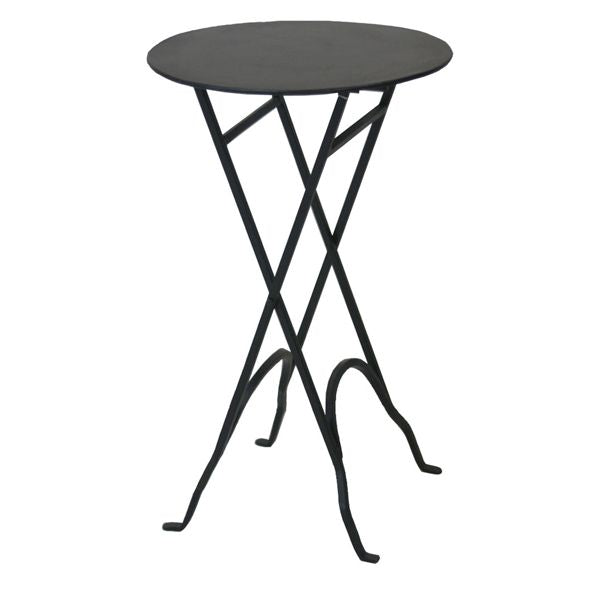 ROUND NARROW SIDE TABLE - Black