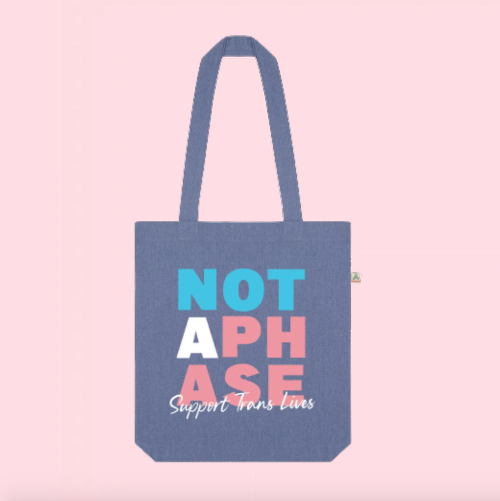 Not A Phase Recycled Denim Tote Bag