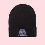 BLACK NOT A PHASE BEANIE HAT