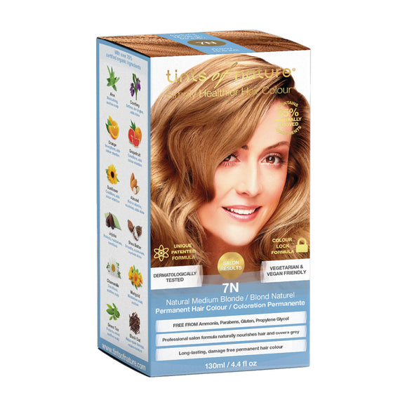 TINTS OF NATURE Permanent Hair Colour Natural Medium Blonde 7N