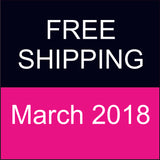 Free Shipping During March 2018!