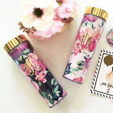 Featured: Monogrammed Floral Tumblers
