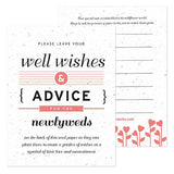 Eco-Friendly Wedding Well Wishing Cards