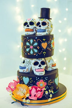 Halloween Wedding cakes, halloween wedding ideas,fall weddings,halloween party,day of the dead party ideas
