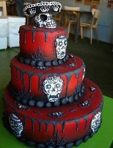 Halloween Wedding cakes, halloween wedding ideas,fall weddings,halloween party,day of the dead