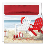 Beach Chairs Christmas Cards