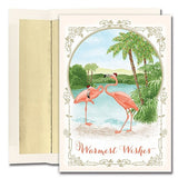 Flamingo Tropical Christmas Cards