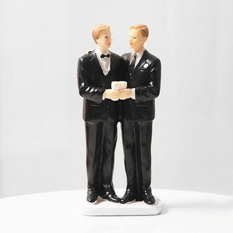 Gay Wedding Cake Top - 5 1/2 Inches Tall