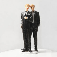 Gay Wedding Cake Top - 8 1/2 Inches Tall