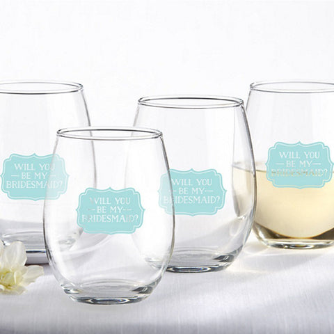Bridesmaid Gift Drinking Glasses