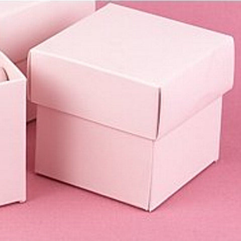 Light Pink Two Piece Favor Boxes